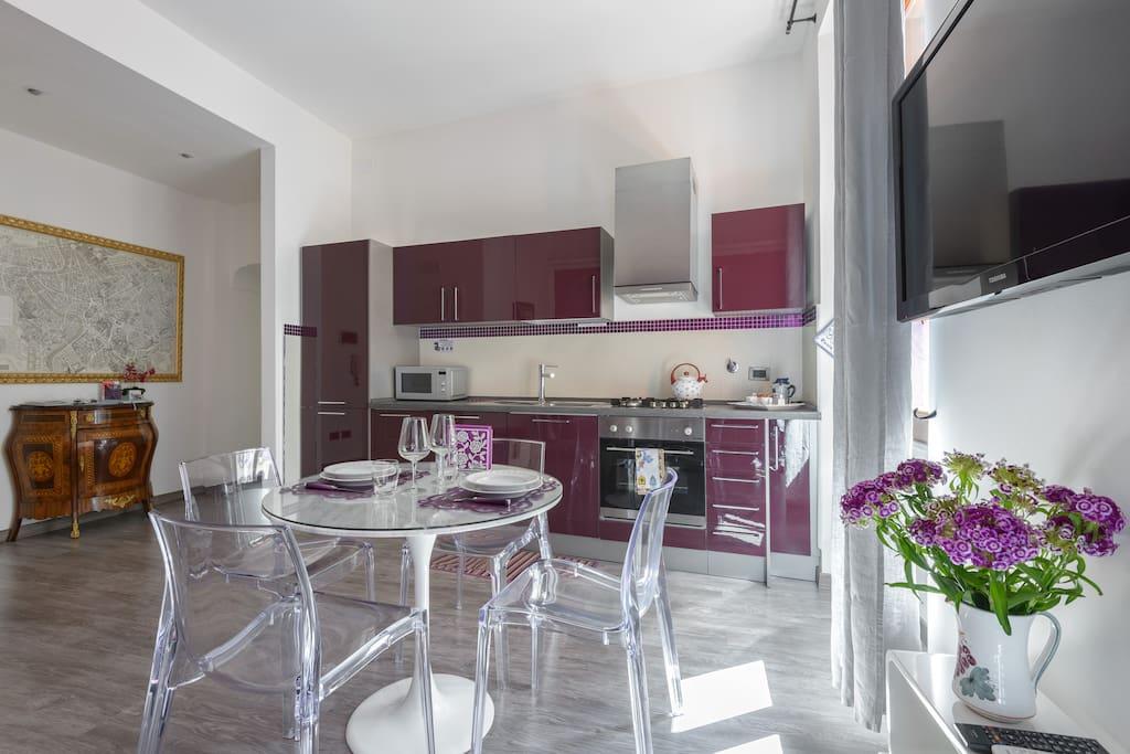 Trastevere luxury design apartment apartments for rent for Apartment design rome