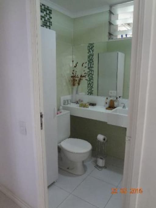 Social bathroom for guest use.