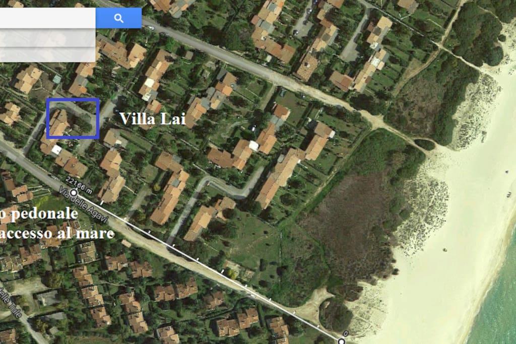 posizione Villa Lai