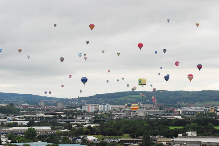 Come at the right time and don't be surprised if you see sights like this as Bristol is the home of the world famous  Bristol balloon fiesta.  THIS IS AN OFF SITE PICTURE