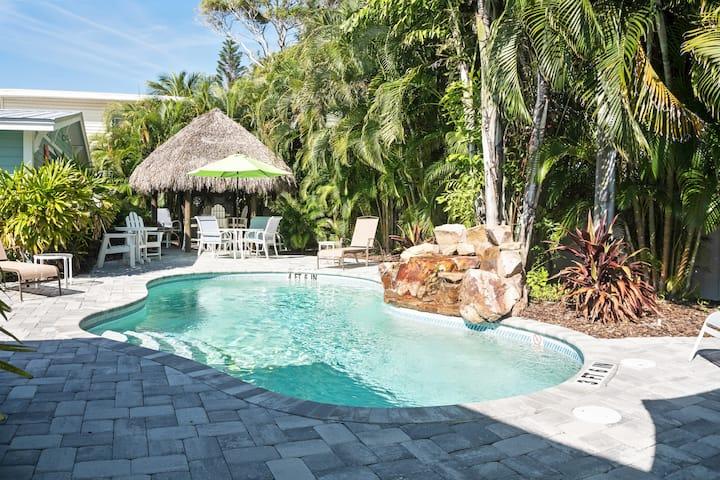 5 Star Villa; Great Pool & Patio, Steps to Beach