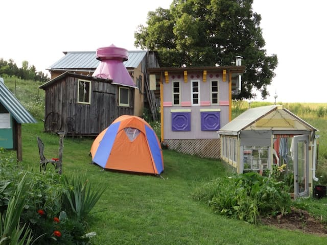 Camping in a Tiny Victorian Village