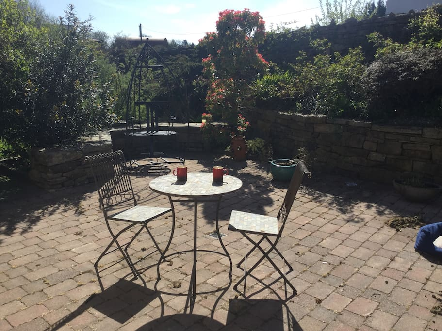 Guests can relax in the quiet peaceful garden