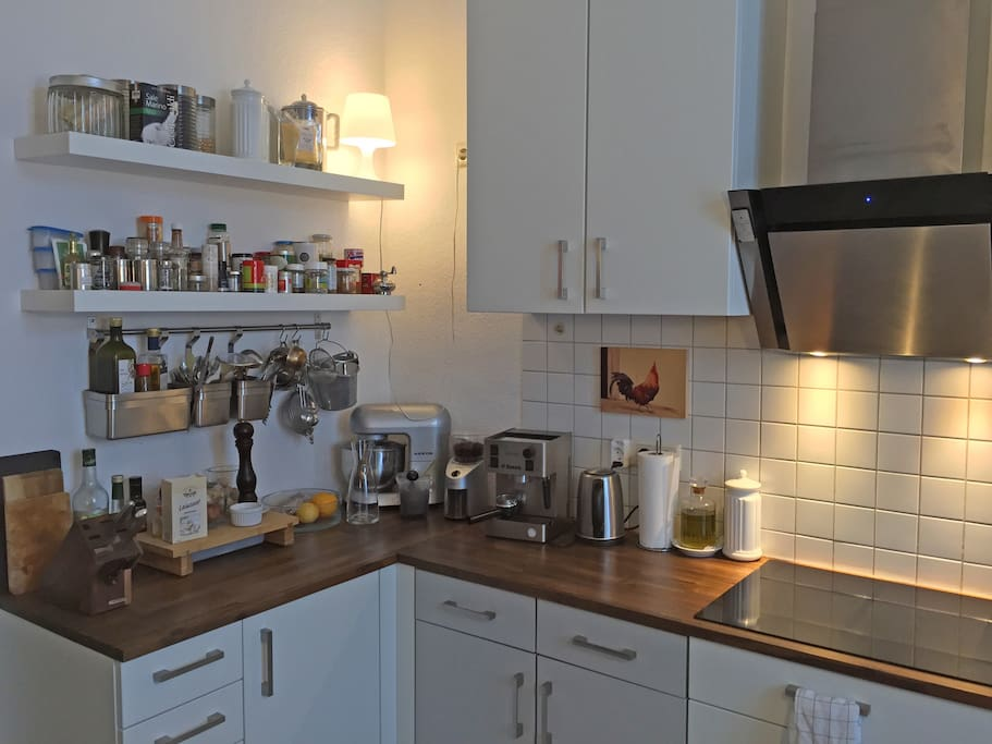 I'm cooking a lot, kitchen provides induction hob.