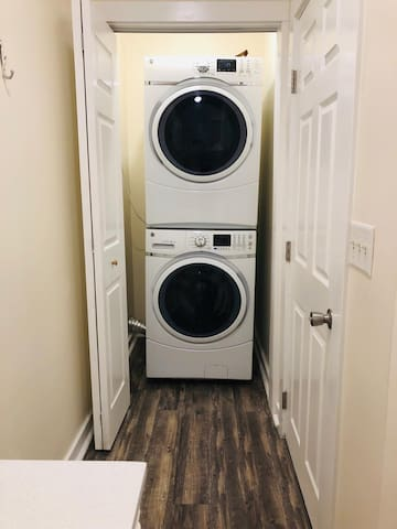 full size water and dryer in 2nd floor bath