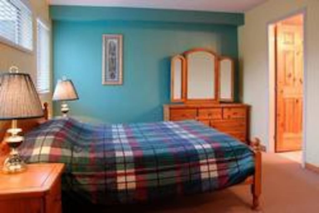 2 twin size beds in nice large bedroom.