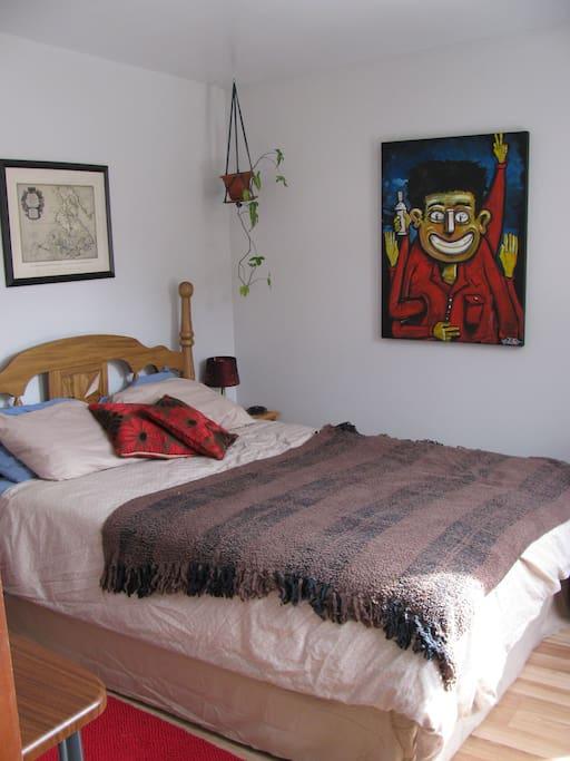 Chambre avec nouveau lit