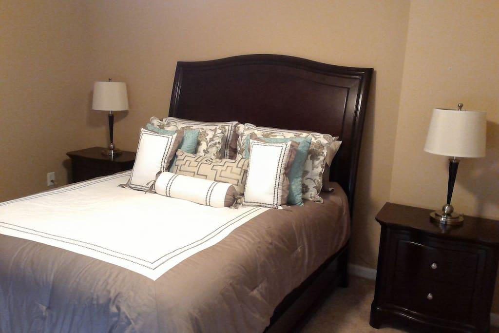 One of two beautiful queen bedrooms!