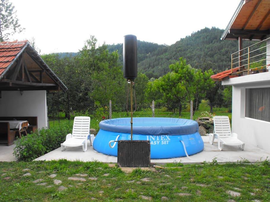 the swiming pool