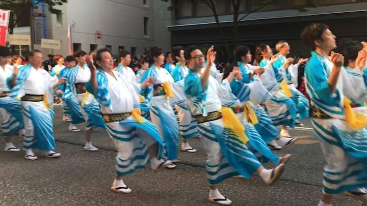 Evening Matsuri (our parade)