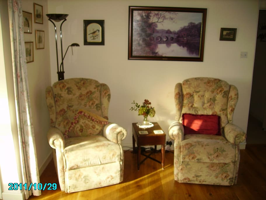 Recliner chairs in sitting room