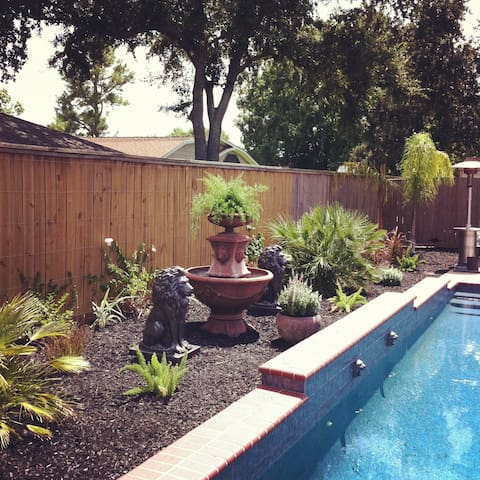 Step into your very own backyard oasis during your stay.