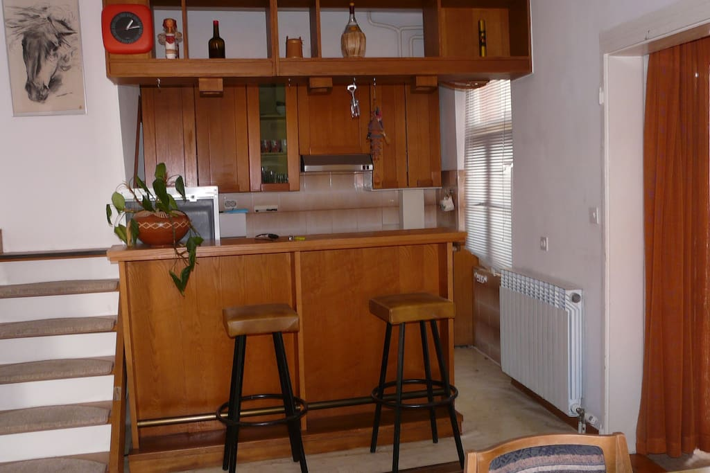 kitchen with the bar