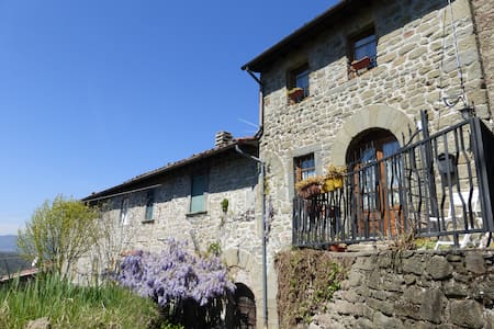 Holiday Stone Cottage in Tuscany Hills - Benabbio - Huis