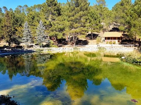 Η καλύβα της λίμνης. Rio Mundo Φυσικό Πάρκο