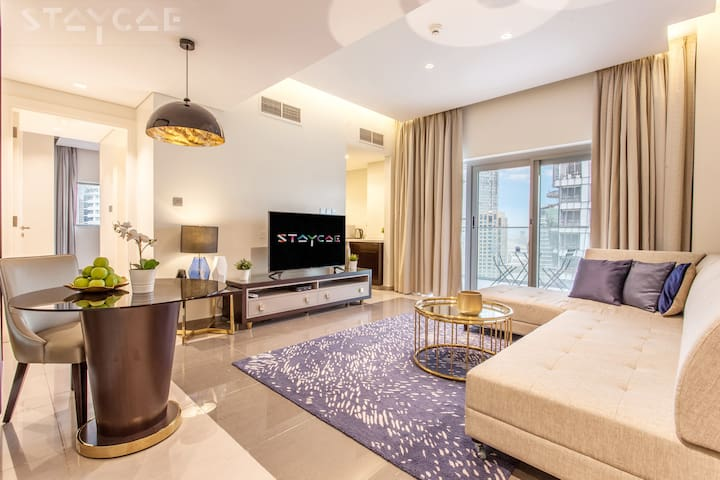 Sophisticated 1 Bedroom City View in Downtown