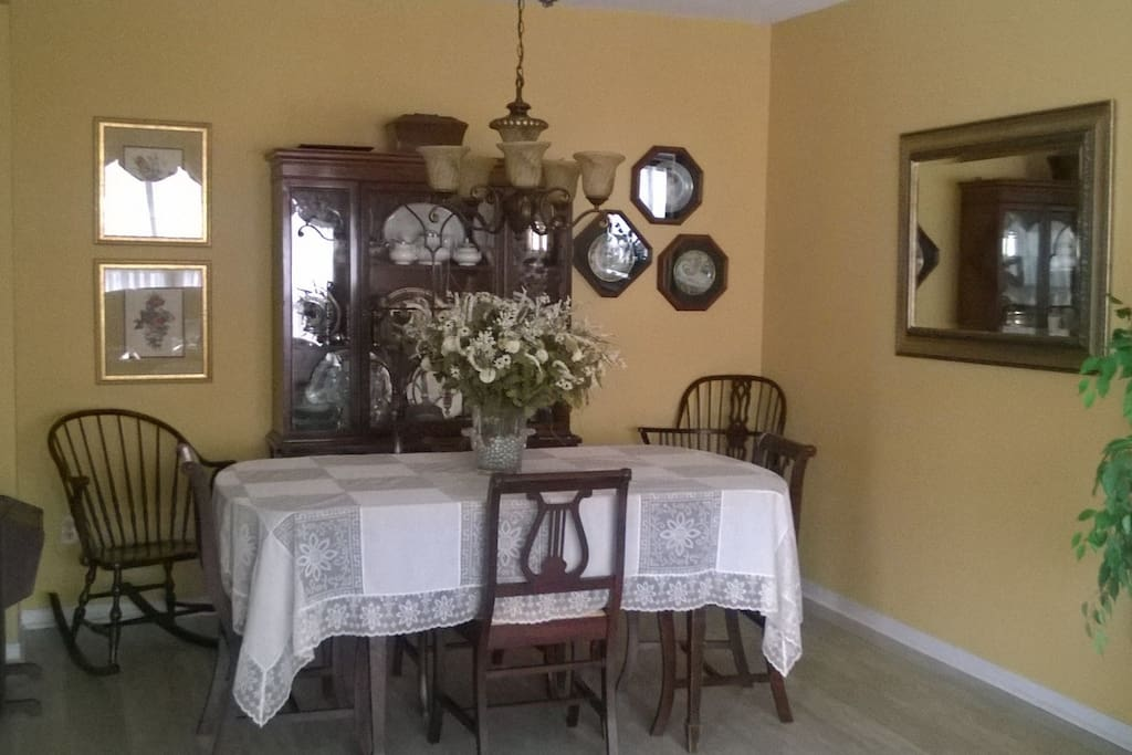 Main floor dining room