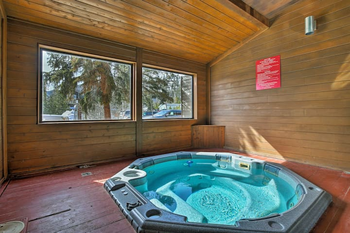 What could be better than sinking into the community hot tub after a day skiing?