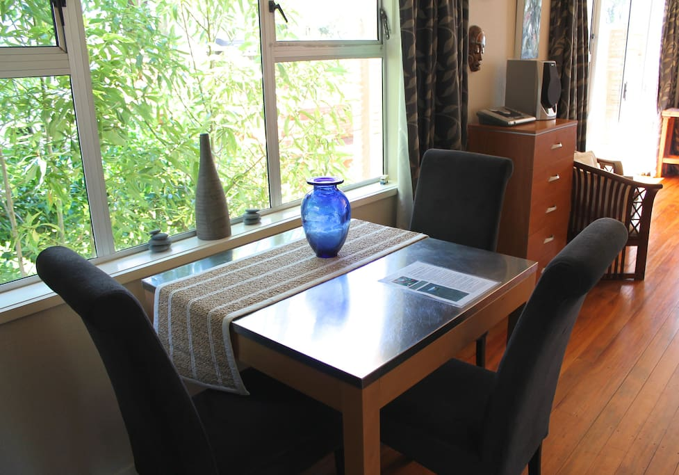 Dining area - watch the birds in the garden
