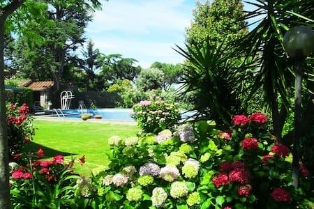 Villa con piscina Stanza Ortensia - Bracciano - Bed & Breakfast