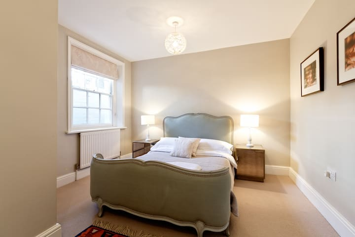 Bedroom One, with an antique French bed and super comfy Tempur mattress.