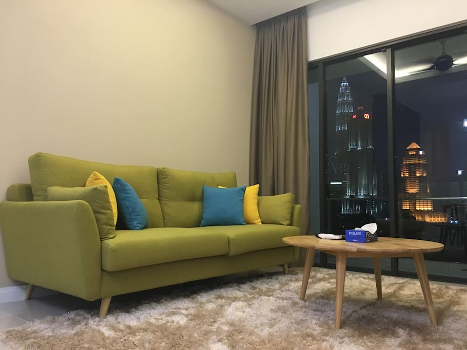 Super comfortable couch (additional traveler may sleep here too)