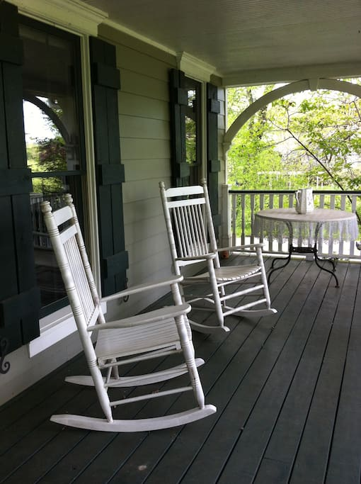 Enjoy the peaceful porch