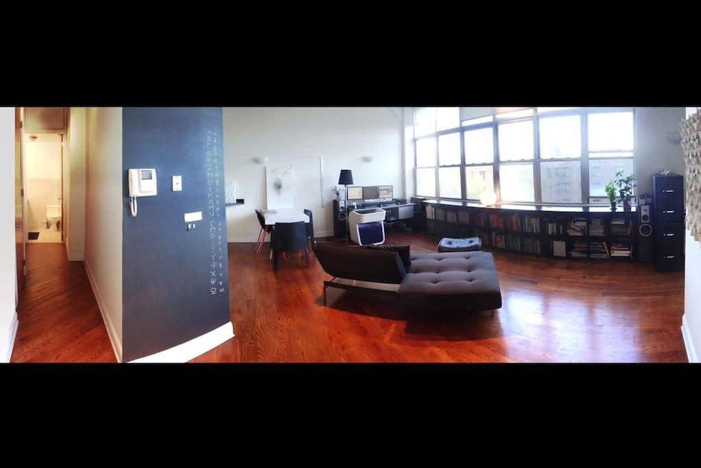 Living Room, Closet Area & 2nd Bathroom
