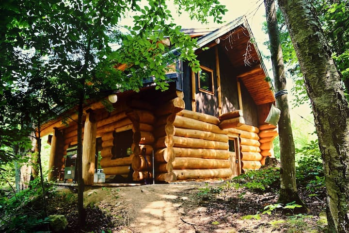 Log chalet on clean private lake - Val-des-Bois - Chalet