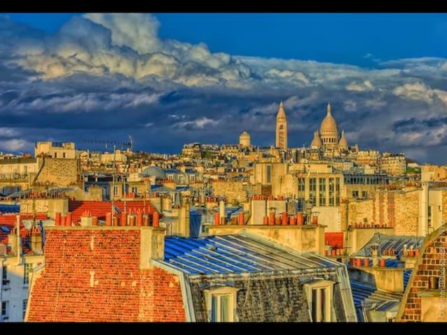 Magnifique studio -suite vue Sacré Cœur/Montmartre