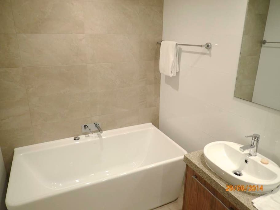 Ensuite has seperate bath and shower