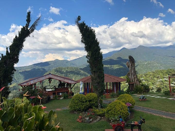 Casa de Campo - Cabaña - finca con vista