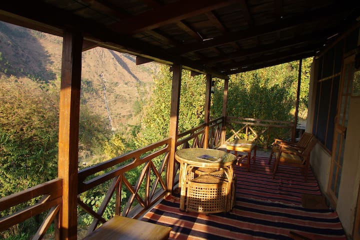 Verandha out side of the rooms