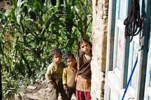 Curious village kids