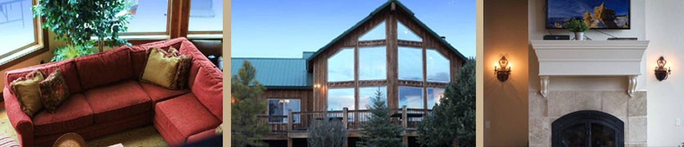 Luxurious cabin near Zion National Park sleeps 22