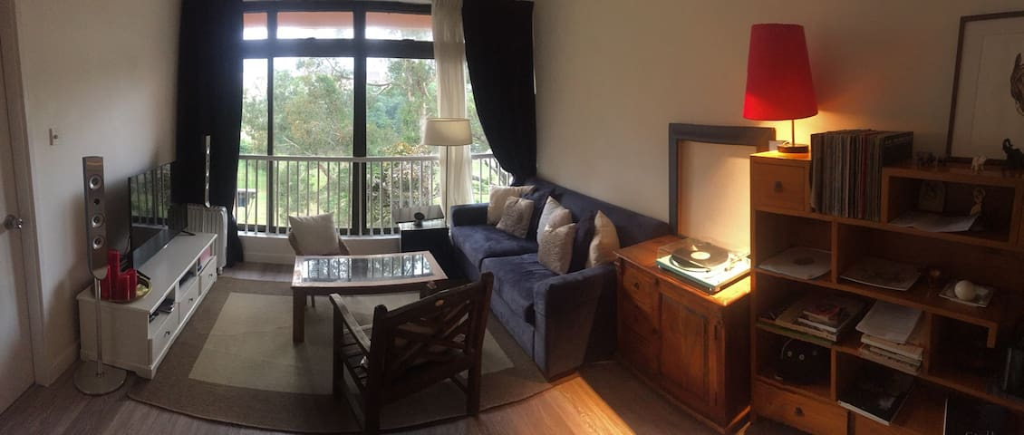 One bedroom in large flat