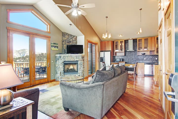 Mount Cairns 16A - 2 Br condo with private hot tub, Marys Lake and mountain views!