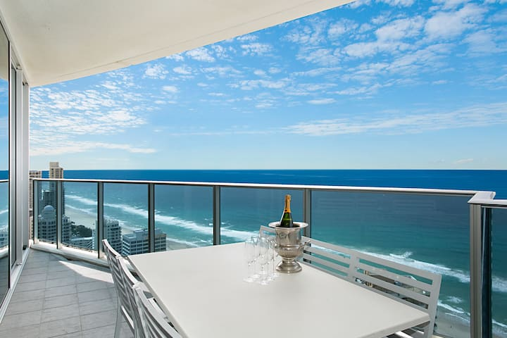 H Luxury Residence Oceanview 34th Floor 3 Bdrm Apt - Surfers Paradise - Apartment