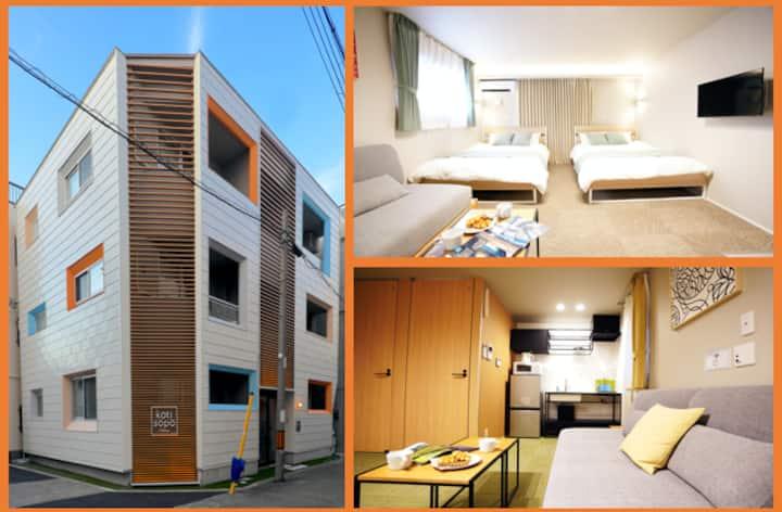 Open Sale!New Apt close to USJ, Namba, Umeda KS202