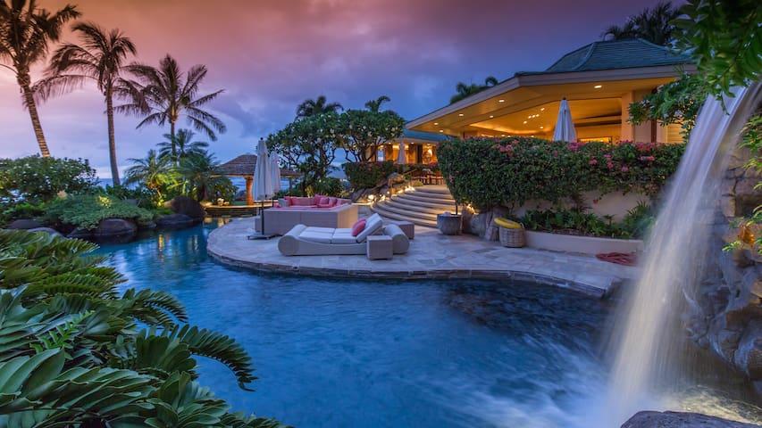 Glamorous 5BD Estate w/Pool & Epic Views in Resort - Waimea - Casa