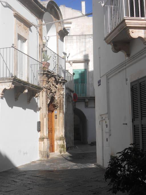 Un angolo del centro storico di Martina Franca