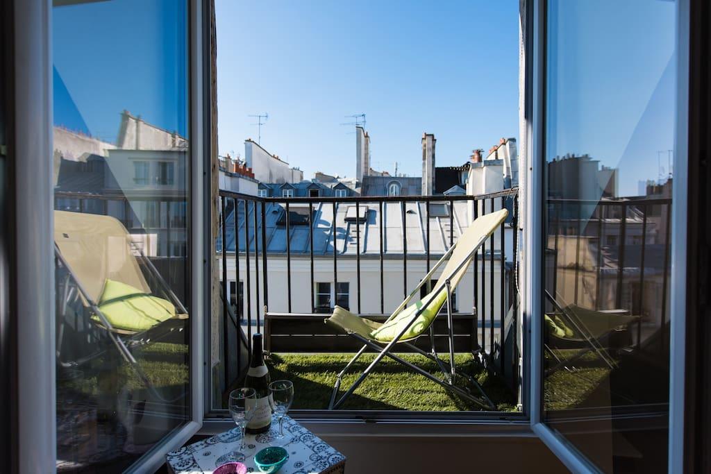 Balcon sur les toits de Paris