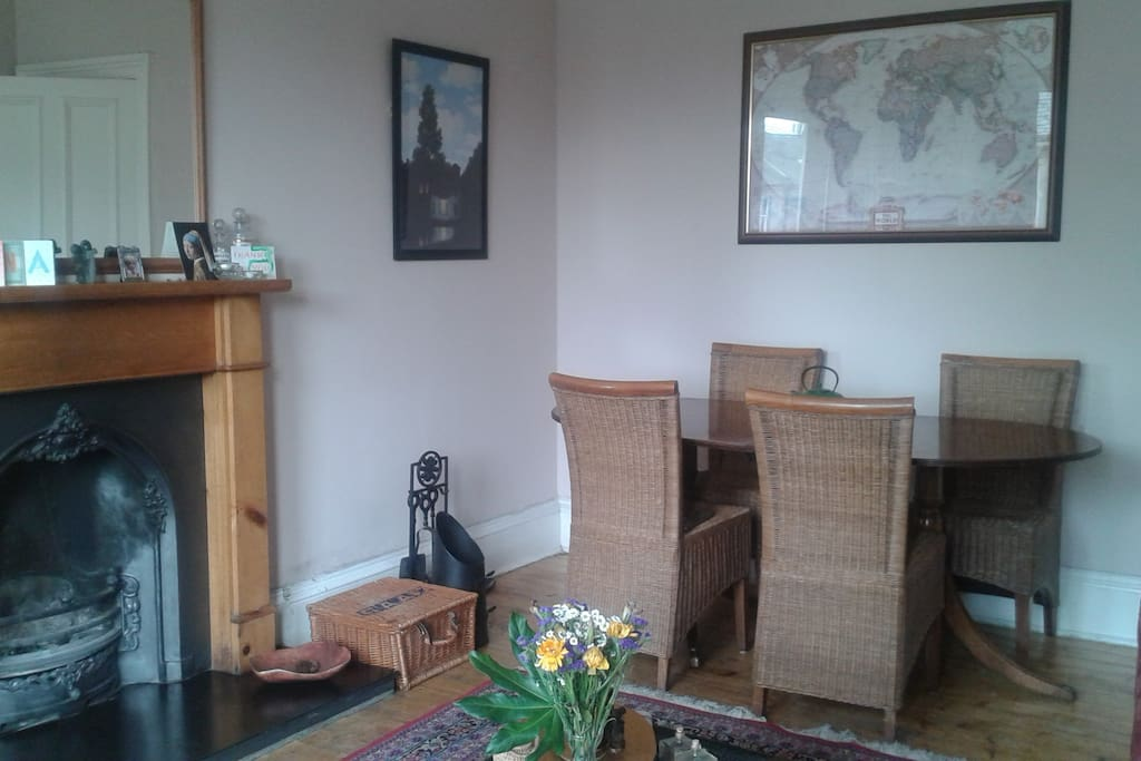 Living room showing dining table