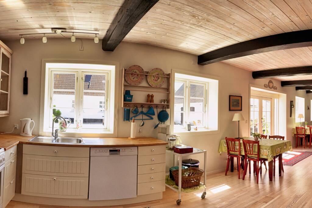 50m2 køkken og opholdsrum