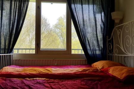Queen sized bedroom in modern apt - Amstelveen - Apartment