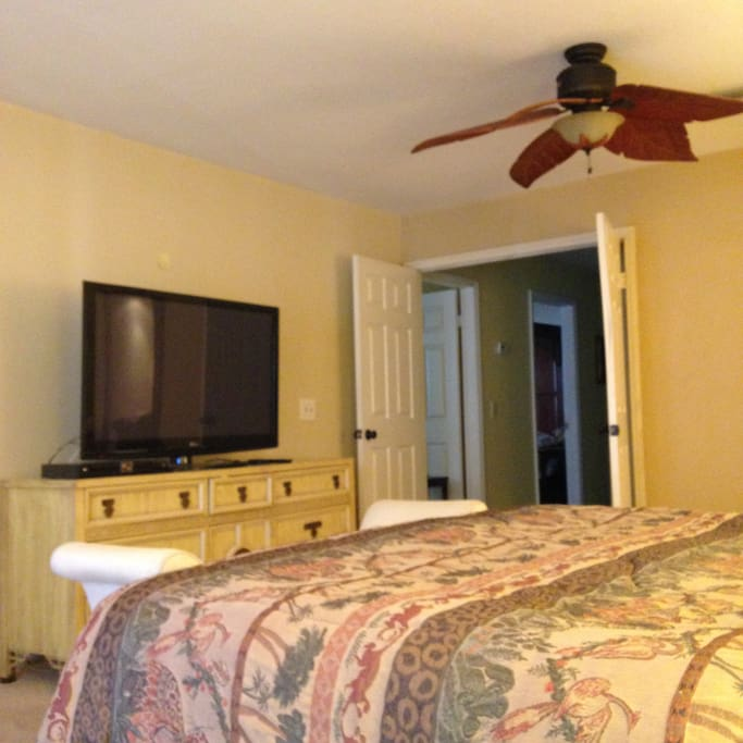 "Your master bedroom with 50in"" television and all the comfort needed for a relaxing vacation"