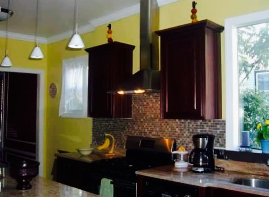 Updated kitchen with all stainless steel appliances and granite countertops!