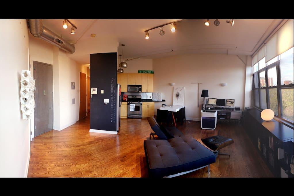 Kitchen & Living Room Area