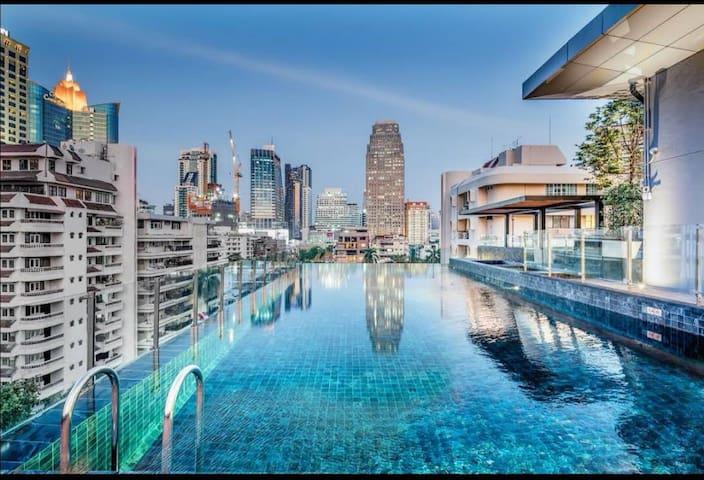 1# 曼谷城市中心asok区域一房公寓/距离bts asok站步行5分钟/闹中取静/度假首选