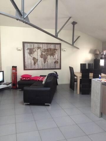 appartement deco industriel proche centre ville